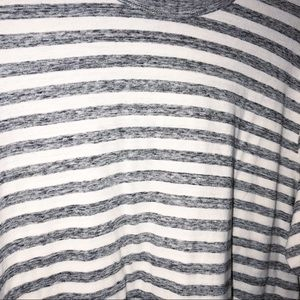 Wings + Horns Shirts - Wings + Horns gray white Striped long sleeve Large